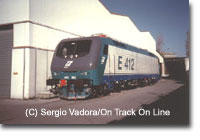 Tri-voltage E412 at Adtraz factory in 1998.