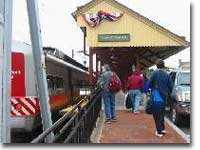 Group arrives back at New Canaan station after a short walk