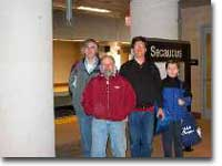 Group shot at Secaucus Junction station
