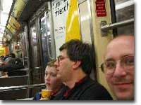 Michael, Kevin, & Piotr on PATH train to Jersey City