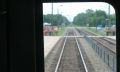 "As seen from ""Railfan Window"" Deux Montagnes line goes down to 1 track"
