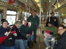 The group on the Rockaway Park shuttle in Rockaway Park (NG)