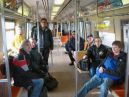 The group aboard the A train in Far Rockaway (PD)