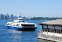 Vancouver's SeaBus across Burrard Inlet.
