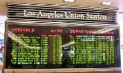 Arrivals-Departures display, L.A. Union Station