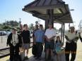 On the platform at Moorpark after our first Metrolink run.